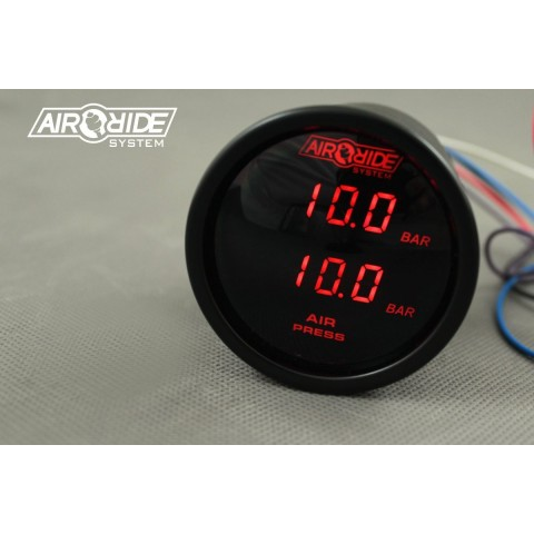 Manometr Elektroniczny DUAL BLACK ARS - RED