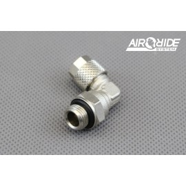"""Brass Fitting for air-hose 6/4mm - 1/4"""" external - angle"""