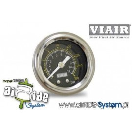 "Manometer VIAIR 1/5"" - BLACK FACE"